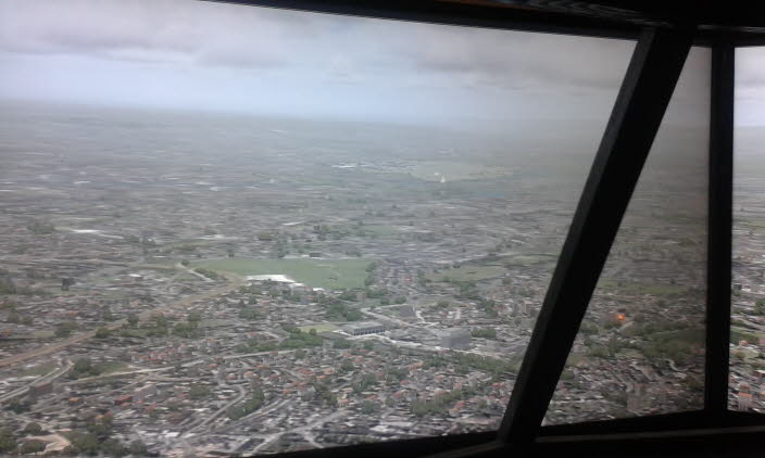 Approaching Manchester